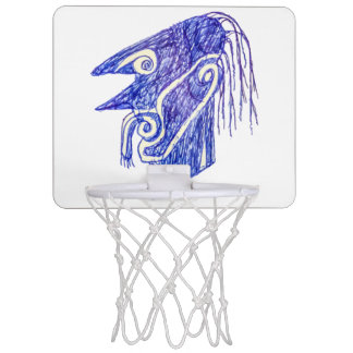 Hand Draw Monster Portrait Ilustration Mini Basketball Hoop