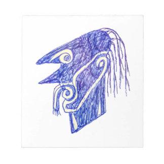 Hand Draw Monster Portrait Ilustration Notepad