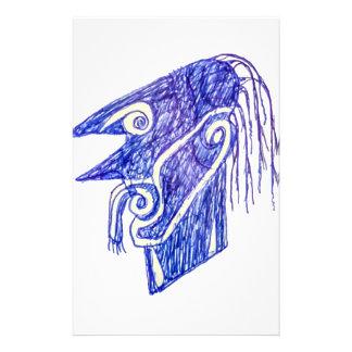Hand Draw Monster Portrait Ilustration Stationery