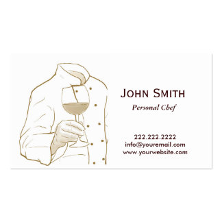 Hand Drawing Personal Chef Business Card