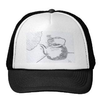 Hand Drawing Teapot Still Life Gear Cap