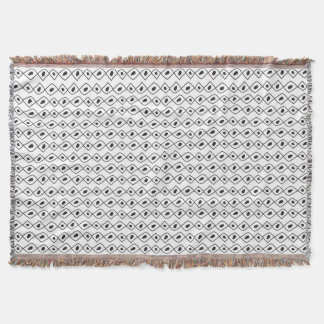 Hand drawn abstract african style texture throw blanket