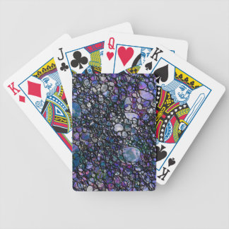 Hand-Drawn Abstract Circles, Blue, Purple, Black Poker Deck