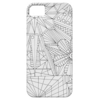 Hand Drawn Abstract nature iPhone 5 Cases