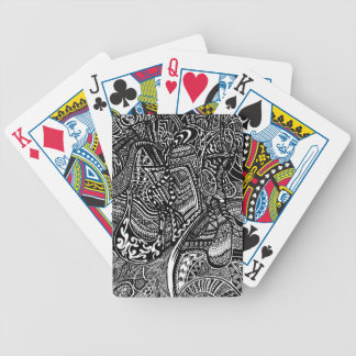 Hand-drawn Abstract Tribal Crazy Doodle Card Deck