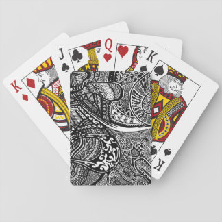 Hand-drawn Abstract Tribal Crazy Doodle Card Decks