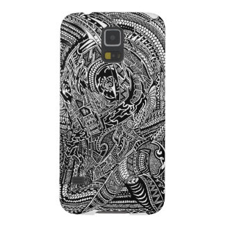 Hand-drawn Abstract Tribal Crazy Doodle Galaxy S5 Covers