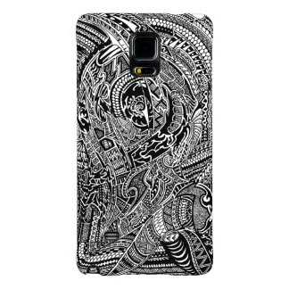 Hand-drawn Abstract Tribal Crazy Doodle Galaxy Note 4 Case
