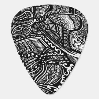 Hand-drawn Abstract Tribal Crazy Doodle Plectrum