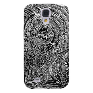Hand-drawn Abstract Tribal Crazy Doodle Samsung Galaxy S4 Cases