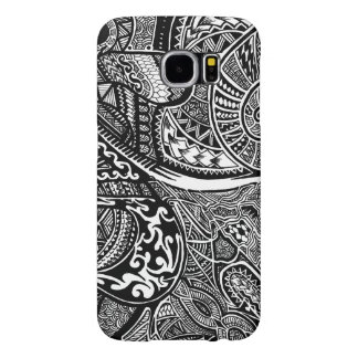 Hand-drawn Abstract Tribal Crazy Doodle Samsung Galaxy S6 Cases