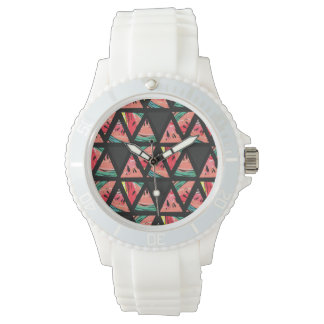 Hand Drawn Abstract Watermelon Pattern Watch