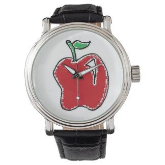 Hand-drawn Apple Cartoon Watch