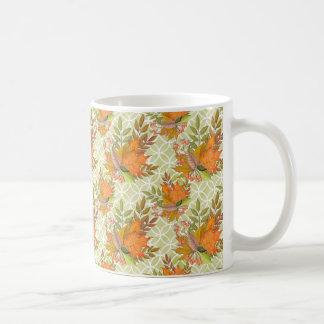 Hand Drawn Autumn Leaves Coffee Mug