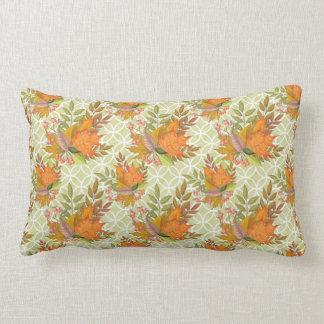 Hand Drawn Autumn Leaves Lumbar Cushion