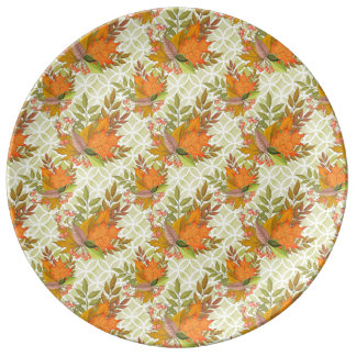 Hand Drawn Autumn Leaves Plate