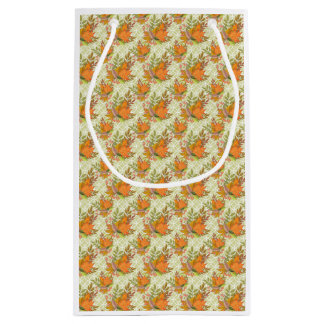 Hand Drawn Autumn Leaves Small Gift Bag
