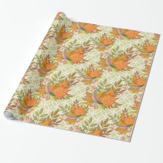 Hand Drawn Autumn Leaves Wrapping Paper