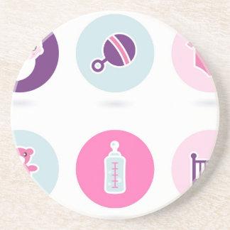 Hand-drawn Baby icons : Creative tshirts Shop Coaster