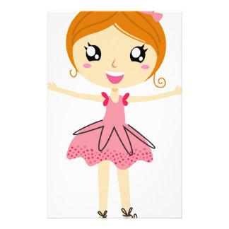 Hand drawn beautiful Ballerina pink Edition Customized Stationery