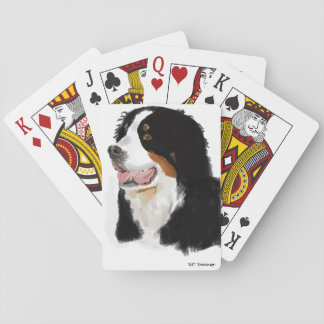 Hand drawn Bernese mountain dog Playing Cards