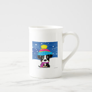 Hand drawn Bernese winter mug