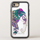 Hand drawn boho watercolor tribal henna elephant OtterBox symmetry iPhone 8/7 case