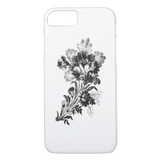 Hand drawn bouquet of flowers realistic iPhone 8/7 case