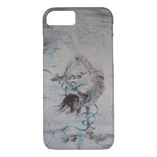 Hand Drawn Break Dancer iPhone Case