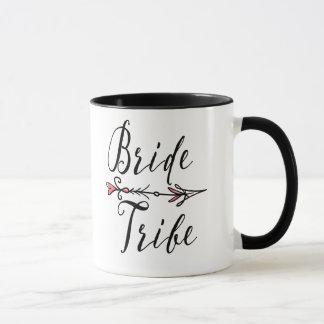 "Hand Drawn ""Bride Tribe"" with Arrow with Pink | Mug"