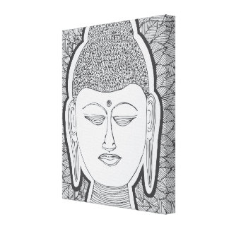 Hand Drawn Buddha Canvas Print