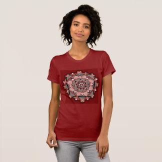 Hand drawn burgundy mandala T-Shirt
