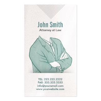 Hand Drawn Businessman Attorney Business Card