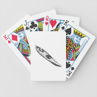 Hand Drawn Canoe Bicycle Playing Cards