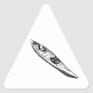 Hand Drawn Canoe Triangle Sticker