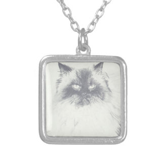 Hand Drawn Cat Necklace