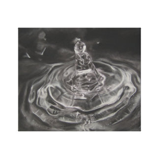 Hand Drawn Charcoal Water Drop Print