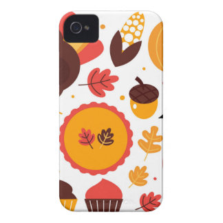 Hand drawn creative Autumn Icons Case-Mate iPhone 4 Case
