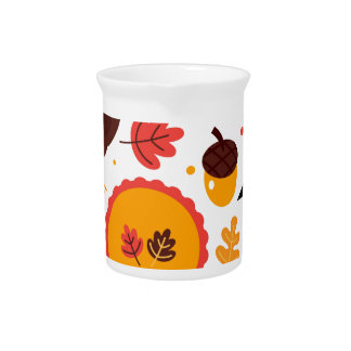Hand drawn creative Autumn Icons Pitcher