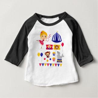 Hand drawn cute Circus edition : Ballerina stuff Baby T-Shirt