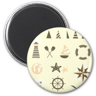 Hand drawn cute Icons / Mare edition 6 Cm Round Magnet