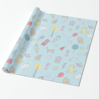 Hand Drawn Cute Stuff ID360 Wrapping Paper
