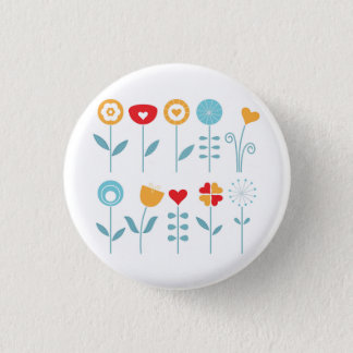 Hand drawn cute stylish button