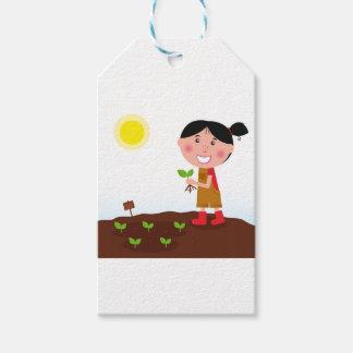 Hand-drawn design : Garden girl