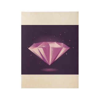 Hand drawn Diamond : on wood Wood Poster
