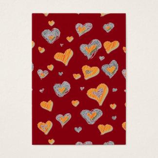 Hand Drawn Doddle Valentine Hearts Kids Cards