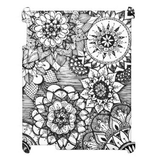 hand drawn doodle case case for the iPad