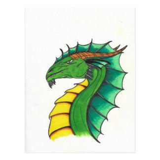 Hand drawn Dragon Postcard