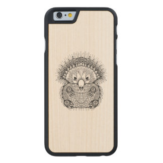 Hand Drawn Echidna Doodle Carved Maple iPhone 6 Case