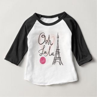 Hand Drawn Eiffel Tower Baby T-Shirt